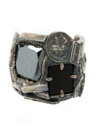 Tobias Wistisen - Multicolor Mosaic Stone Ring for Men - Lyst