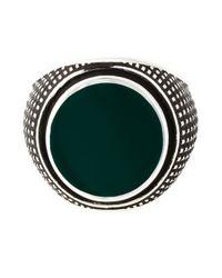 Eleventy   Black Round Sovereign Ring for Men   Lyst