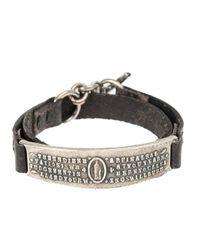 Tobias Wistisen   Black Embossed Wrap Bracelet for Men   Lyst