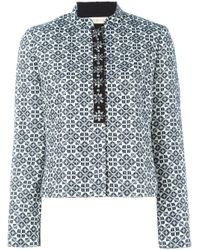 Tory Burch | Gray Geometric Pattern Jacket | Lyst