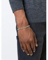Paul Smith - Black Double Silver Bead Bracelet for Men - Lyst