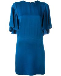 Lanvin | Blue Half Sleeve Dress | Lyst