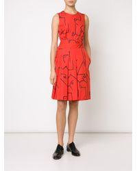 Calvin Klein - Red 'fauve' Dress - Lyst