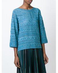 M Missoni - Blue Lurex Sweater - Lyst