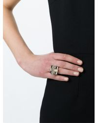 Givenchy - Metallic 'obsedia' Ring - Lyst