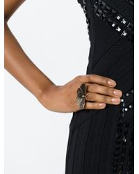 Saint Laurent | Metallic Moth Ring | Lyst