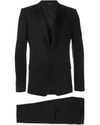 Dolce & Gabbana | Black Three-piece Tuxedo Suit for Men | Lyst