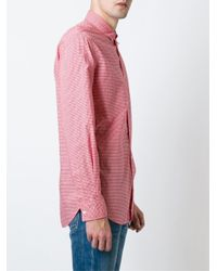 DSquared² - Red Gingham Print Shirt for Men - Lyst