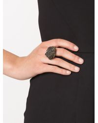 Simona Tagliaferri | Black Carbon Agate Ring | Lyst