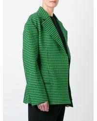 Céline - Green Houndstooth Blazer - Lyst