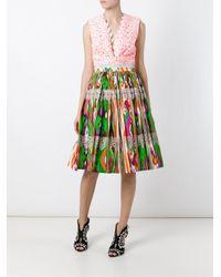 Stella Jean - Multicolor Pleated Ikat Print Skirt - Lyst