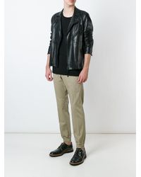 DIESEL - Black Gathered Ankle Trousers for Men - Lyst