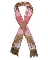 Cecilia Prado - Brown Fringed Trimming Knitted Scarf - Lyst