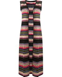 Cecilia Prado - Black Long Lenght Knitted Waistcoat - Lyst