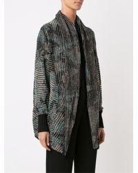 Cecilia Prado - Brown Lapel Knitted Cardigan - Lyst