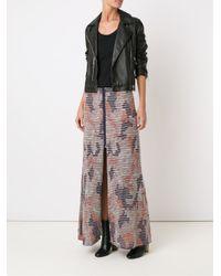 Cecilia Prado - Blue Front Slit Long Knitted Skirt - Lyst