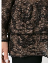 Cecilia Prado - Black Round Neck Knitted Blouse - Lyst