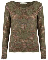 Cecilia Prado | Green Round Neck Knitted Blouse | Lyst