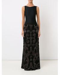 Cecilia Prado - Black Knitted Maxi Skirt - Lyst