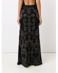 Cecilia Prado - Black Knitted Maxi Skirt - Lyst