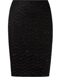 Cecilia Prado - Black Knitted Pencil Skirt - Lyst