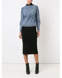 Cecilia Prado - Blue Straight Neckline Knitted Blouse - Lyst