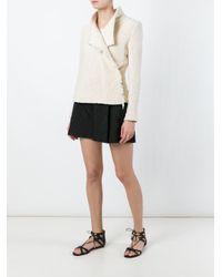 IRO Black Frayed Loop Knit Jacket