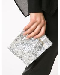 Zilla - Gray 'small Lunch' Clutch - Lyst