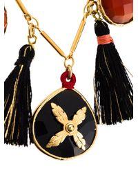 Gas Bijoux - Red Tassel Necklace - Lyst