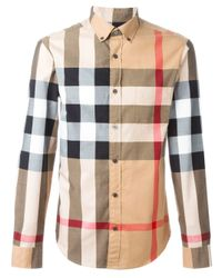 Burberry | Black Checked Shirt for Men | Lyst