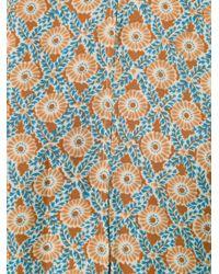 10 Crosby Derek Lam | Blue - Printed Sleeveless Top - Women - Silk - 0 | Lyst