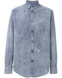 DSquared² | Blue Striped Demim Shirt for Men | Lyst