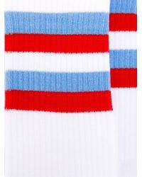 Gosha Rubchinskiy - White Cotton Socks Flag Detail for Men - Lyst