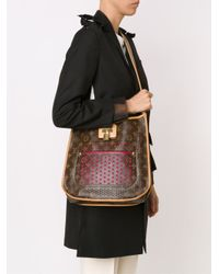 Louis Vuitton - Brown 'Musette' Perforated Shoulder Bag - Lyst