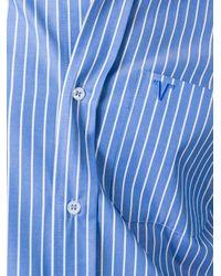 Vetements - Blue Oversized Sleeve Striped Shirt - Lyst