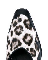 Haider Ackermann - Black Leopard Print Slippers for Men - Lyst