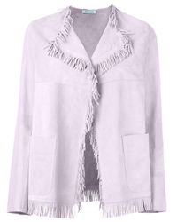 P.A.R.O.S.H. - Pink Frayed Edge Jacket - Lyst