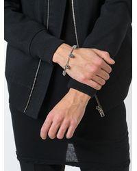 Maison Recuerdo - Metallic Skull Charm Bracelet - Lyst