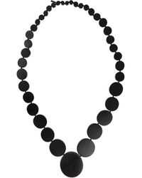 Monies | Black Disc Strand Necklace | Lyst