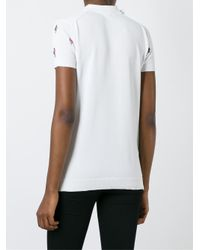 KENZO - White 'cartoon Cactus' Polo Shirt - Lyst