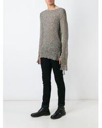 Cedric Jacquemyn | Blue Long-sleeved Sidetape Sweater | Lyst