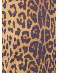 Saint Laurent - Brown Leopard Print T-shirt - Lyst