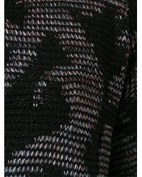 Cecilia Prado - Black Tricot Ribbed Crop Sweater - Lyst