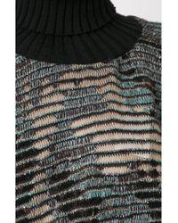 Cecilia Prado - Black Asymmetric Tricot Poncho - Lyst