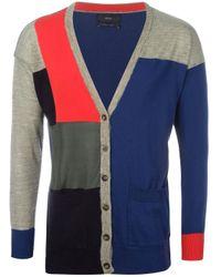 DIESEL | Blue Colour Block Cardigan for Men | Lyst