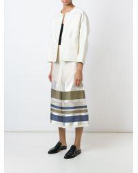 Erika Cavallini Semi Couture - Multicolor Striped Culottes - Lyst