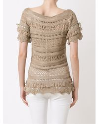 Cecilia Prado - Multicolor Open Knit Tricot Blouse - Lyst