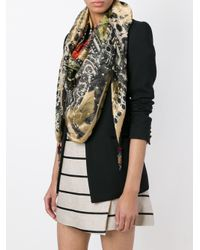Etro | Black Mixed-print Scarf | Lyst