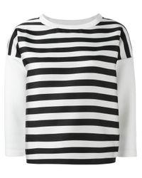 Moncler | White Striped Sweatshirt | Lyst