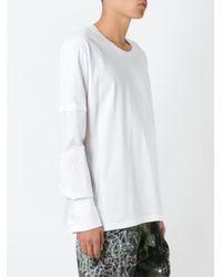 Faith Connexion - White Oversized Double Sleeve Sweatshirt for Men - Lyst